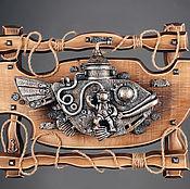 """Картины и панно ручной работы. Ярмарка Мастеров - ручная работа Панно """"Подводная лодка и водолаз"""". Handmade."""