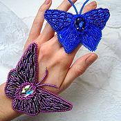 Украшения ручной работы. Ярмарка Мастеров - ручная работа Броши бабочки. Handmade.