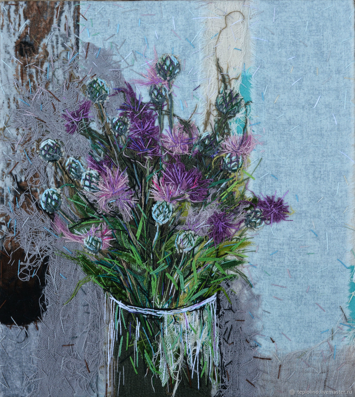 Textile panel Cornflowers, Pictures, Pskov,  Фото №1