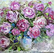 """Картины и панно ручной работы. Ярмарка Мастеров - ручная работа Этюд """"Розовая Симфония"""" - картина маслом с цветами. Handmade."""