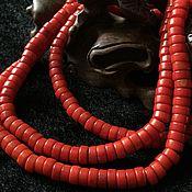 Бусины ручной работы. Ярмарка Мастеров - ручная работа Бусина 8 мм Шайба (19), коралл. Handmade.