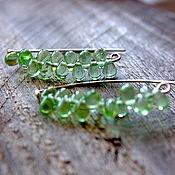 Украшения handmade. Livemaster - original item Drop earrings in 925 sterling silver Freshness. Handmade.