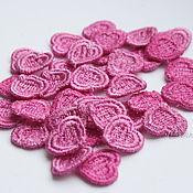 Материалы для творчества handmade. Livemaster - original item Embroidery, lace, applique delicate, small heart FSL lace free. Handmade.