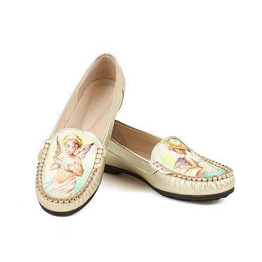 """Обувь ручной работы. Ярмарка Мастеров - ручная работа Мокасины """"Песнь ангелов"""". Handmade."""