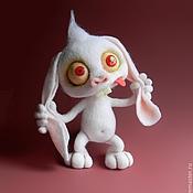 Куклы и игрушки ручной работы. Ярмарка Мастеров - ручная работа заяц-НервячОк. Handmade.
