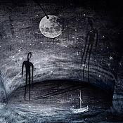 """Картины и панно ручной работы. Ярмарка Мастеров - ручная работа Art """"Я и моя тень"""". Handmade."""