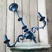 """Для дома и интерьера ручной работы. Ярмарка Мастеров - ручная работа Люстра """"Полночь"""". Handmade."""