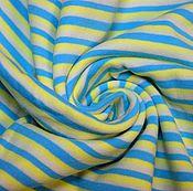 Материалы для творчества ручной работы. Ярмарка Мастеров - ручная работа Рибана с/л полосы желто-голубые. Handmade.