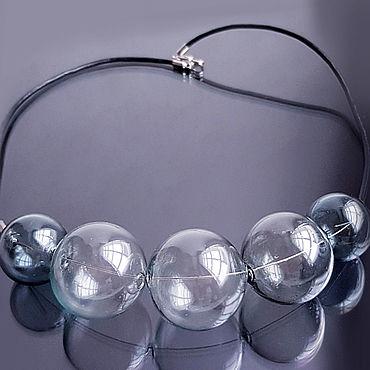 """Украшения ручной работы. Ярмарка Мастеров - ручная работа Колье """"Дымка"""" выдувное стекло. Handmade."""
