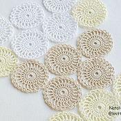 Материалы для творчества handmade. Livemaster - original item Knitted openwork circles. Handmade.