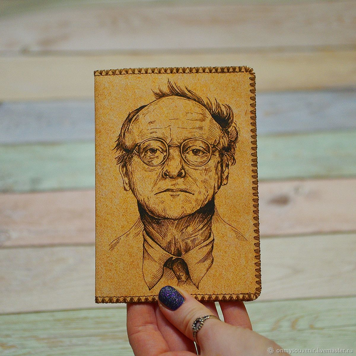 Passport cover ' Brodsky', Passport cover, Voronezh,  Фото №1