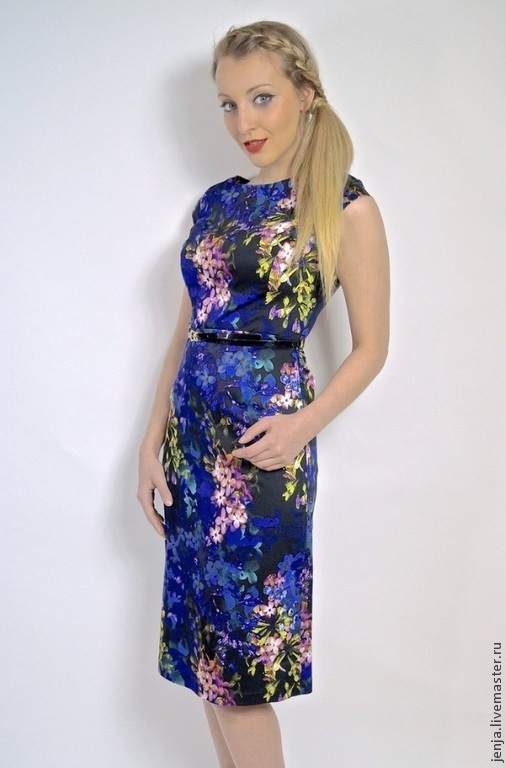 Платья ручной работы. Ярмарка Мастеров - ручная работа. Купить Blossoming lilac dress by Candy Cottons. Handmade. Разноцветный