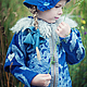 Одежда для девочек, ручной работы. Ярмарка Мастеров - ручная работа. Купить Куртка Полупальто из войлока с воротником для девочки. Handmade. Синий