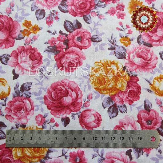 Ткань хлопок `Роза Ботичелли`. Код товара: DFS-00113
