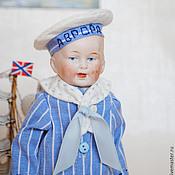 Винтаж ручной работы. Ярмарка Мастеров - ручная работа Антикварная кукла Мальчик-морячок. (Sailor boy). Handmade.