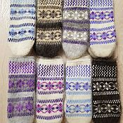 Аксессуары handmade. Livemaster - original item Mittens for Women Down Warm Knitted Mittens Colored Patterns. Handmade.