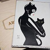 Cover handmade. Livemaster - original item Passport cover,, Catwoman