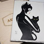 Канцелярские товары handmade. Livemaster - original item Passport cover,, Catwoman