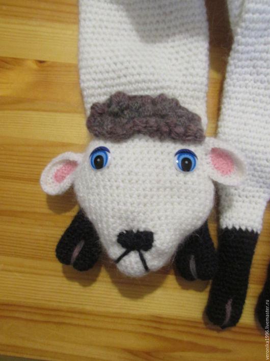 Шапки и шарфы ручной работы. Ярмарка Мастеров - ручная работа. Купить шарфик овечка. Handmade. Белый, вязание на заказ, шерсть