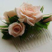 Свадебный салон ручной работы. Ярмарка Мастеров - ручная работа Гребень для украшения свадебной прически. Handmade.