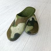 Обувь ручной работы handmade. Livemaster - original item Slippers-felted Slippers mens. Handmade.