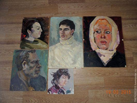 Люди, ручной работы. Ярмарка Мастеров - ручная работа. Купить портрет.. Handmade. Портрет, масляная живопись, масляные краски, разноцветный