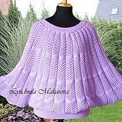 Одежда handmade. Livemaster - original item Lilac poncho