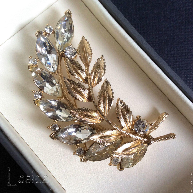 Sprig brooch from Lisner USA, Vintage brooches, Ramenskoye,  Фото №1