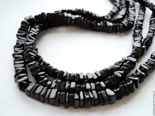 Для украшений ручной работы. Ярмарка Мастеров - ручная работа. Купить Шпинель черная чипсы 5мм, нитка 20см. Handmade.