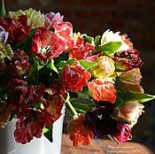 Цветы и флористика handmade. Livemaster - original item Tulip extravaganza .Botanical sculptures from polymer clay.. Handmade.