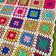 """Текстиль, ковры ручной работы. Плед из мотивов """"бабушкин квадрат """". Все для малышей и их мам (MamaDina). Интернет-магазин Ярмарка Мастеров."""