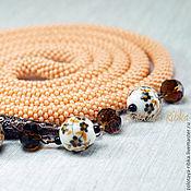 Украшения handmade. Livemaster - original item Lariat Beautiful happiness long beaded decoration. Handmade.