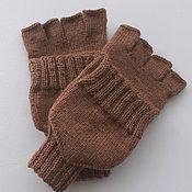 Аксессуары handmade. Livemaster - original item Transformers Woolen caramel mittens 2184L. Handmade.