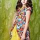 """Одежда для девочек, ручной работы. Ярмарка Мастеров - ручная работа. Купить Платье-туника для девочки """"Матреха"""" (с юбкой или шортами). Handmade."""