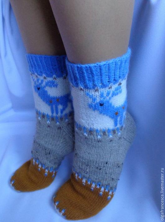 новый год, новогодний подарок, носки с оленями, носки шерстяные, носки вязаные, носки в подарок, подарок ручной работы, теплые носки, рождество, рождественский подарок, олени, носки детские, подарки