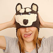 Аксессуары ручной работы. Ярмарка Мастеров - ручная работа шапка собака Хаски. Handmade.