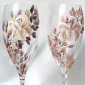 Посуда handmade. Livemaster - original item Wedding glasses