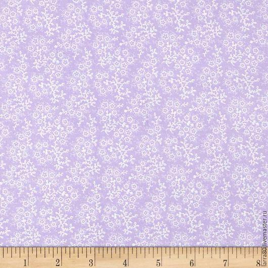 Шитье ручной работы. Ярмарка Мастеров - ручная работа. Купить Хлопок Mini Floral Lilac США. Handmade. Ткань для кукол