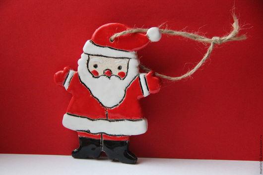 Новый год 2017 ручной работы. Ярмарка Мастеров - ручная работа. Купить Дед Мороз. Handmade. Новый Год, елочная игрушка