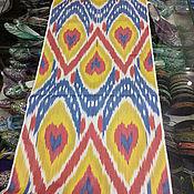 Материалы для творчества handmade. Livemaster - original item Uzbek colored cotton ikat hand weaving. FM133. Handmade.