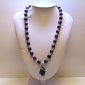 Украшения handmade. Livemaster - original item Necklace with pendant made of natural stones - amethyst. Handmade.