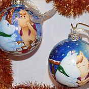 """Подарки к праздникам ручной работы. Ярмарка Мастеров - ручная работа Пара шаров """"Муми-тролли"""". Handmade."""