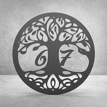 """Для дома и интерьера ручной работы. Ярмарка Мастеров - ручная работа Номерок на дверь """"Tree of life"""". Handmade."""