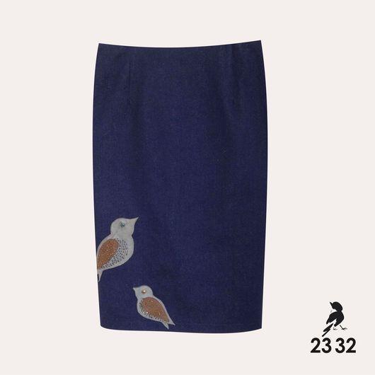"""Юбки ручной работы. Ярмарка Мастеров - ручная работа. Купить Джинсовая юбка карандаш """"Linda"""". Handmade. Тёмно-синий"""