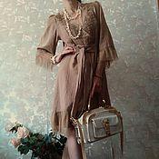 """Одежда ручной работы. Ярмарка Мастеров - ручная работа Платье хлопковое  """"Песок"""". Handmade."""