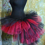 Одежда handmade. Livemaster - original item Skirt with train made of tulle for adults. Handmade.