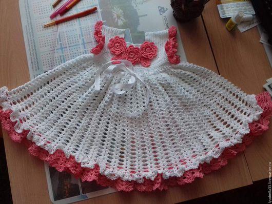 Одежда для девочек, ручной работы. Ярмарка Мастеров - ручная работа. Купить Детское платье в комплекте. Handmade. Белый, хлопок 100%