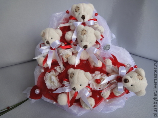 """Подарки для влюбленных ручной работы. Ярмарка Мастеров - ручная работа. Купить Букет из игрушек """"Свадебный  2"""". Handmade. Букеты из игрушек"""
