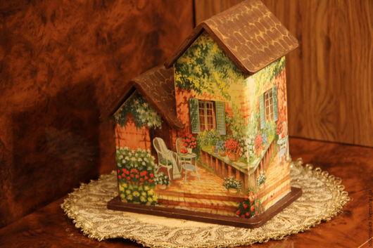 """Кухня ручной работы. Ярмарка Мастеров - ручная работа. Купить Чайный домик""""Уютный домик"""". Handmade. Зеленый, подарок женщине"""
