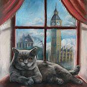 Картины и панно ручной работы. Ярмарка Мастеров - ручная работа Британский кот. Handmade.